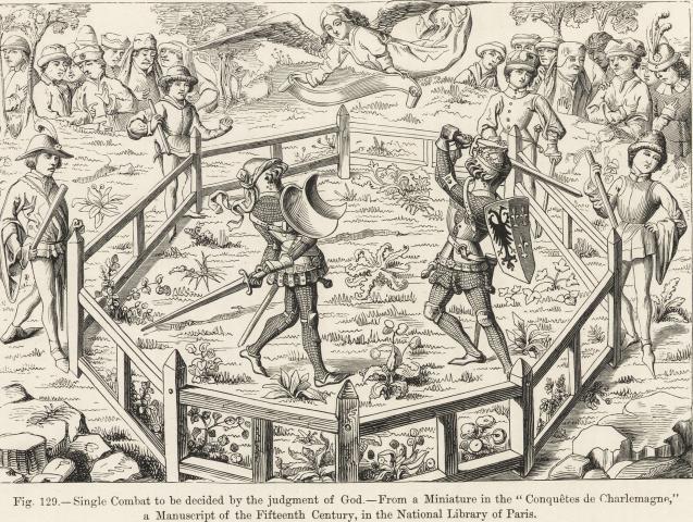 Duello medievale giudizio divino ordalia