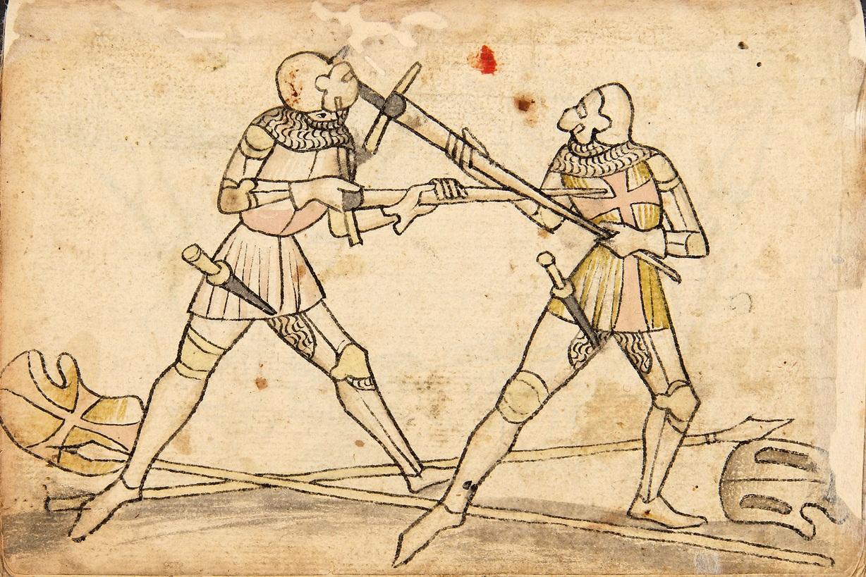 Codex Wallerstein mezza spada halfswording