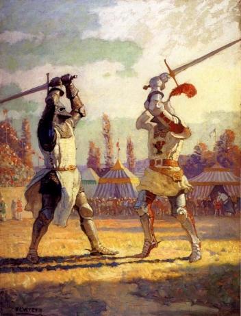 Duello Cavalieri Medievali Longsword Armatura