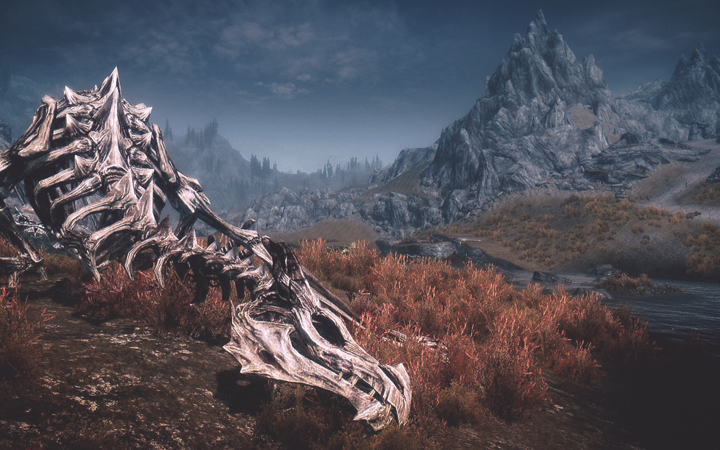 scheletro drago skyrim