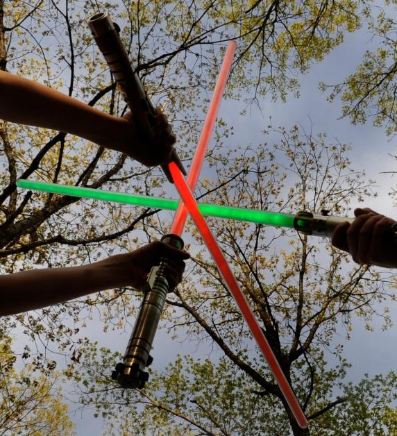 spade spada laser light saber plastica