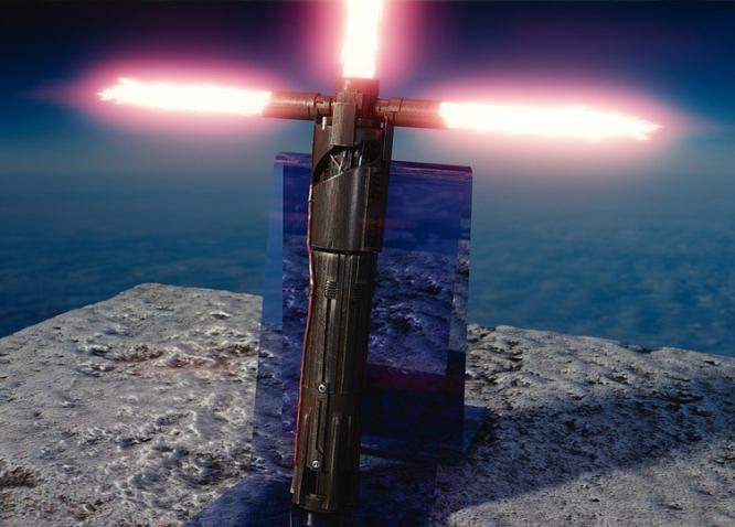 spada laser kylo ren guardia