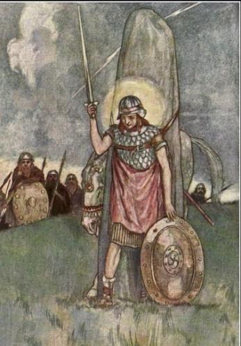 cuchulainn cù chulainn dio celtico spada fragarach