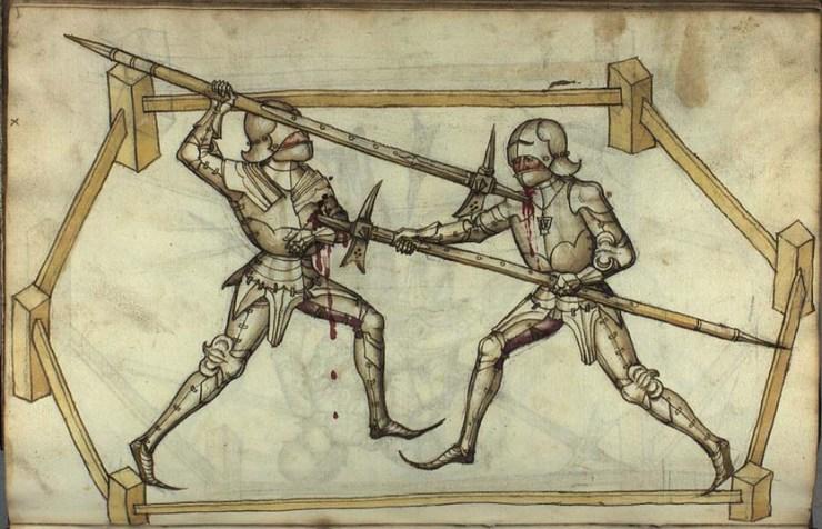 duello cavalieri azza armatura pesante