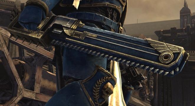 space marine warhammer 40k spada motosega la spada perfetta