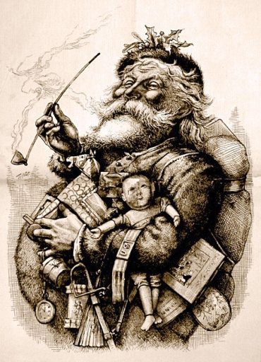 merry old santa thomas nast babbo natale