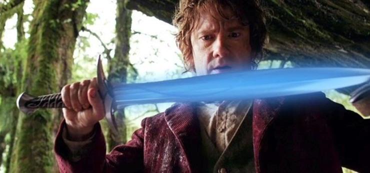 pungolo spada bilbo frodo baggins il signore degli anelli lo hobbit