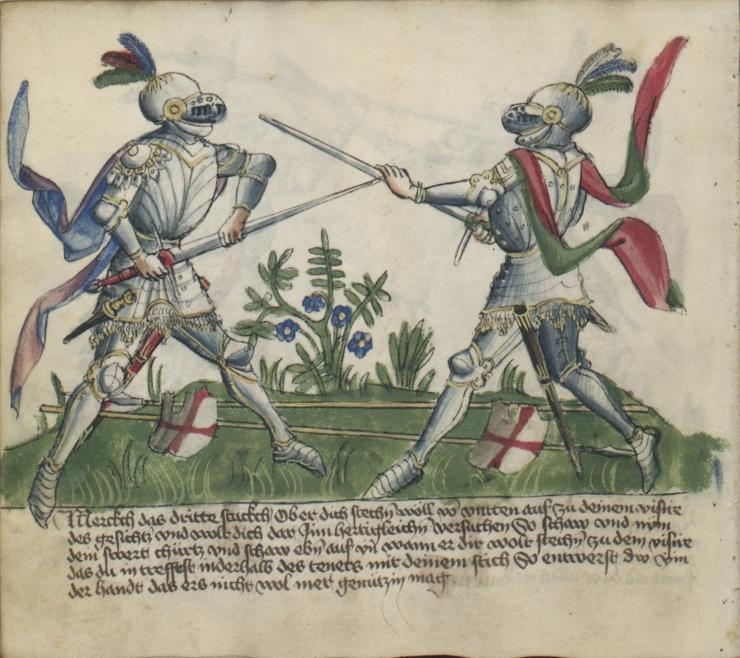 cavalieri in armatura mezza spada