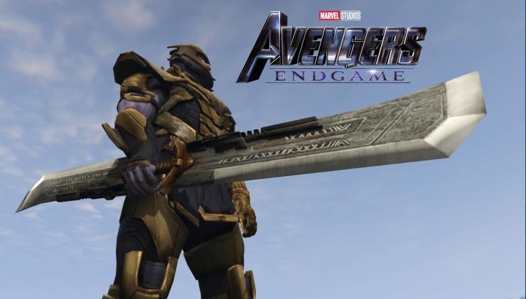 spada di thanos avengers endgame