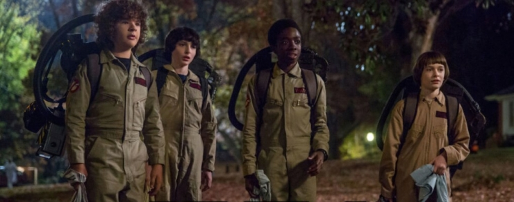 stranger things gruppo party ghost busters