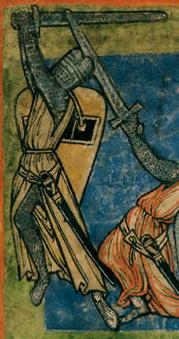 manoscritto spada a una mano usata a due mani