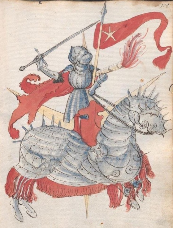 cavaliere con bardatura pesante