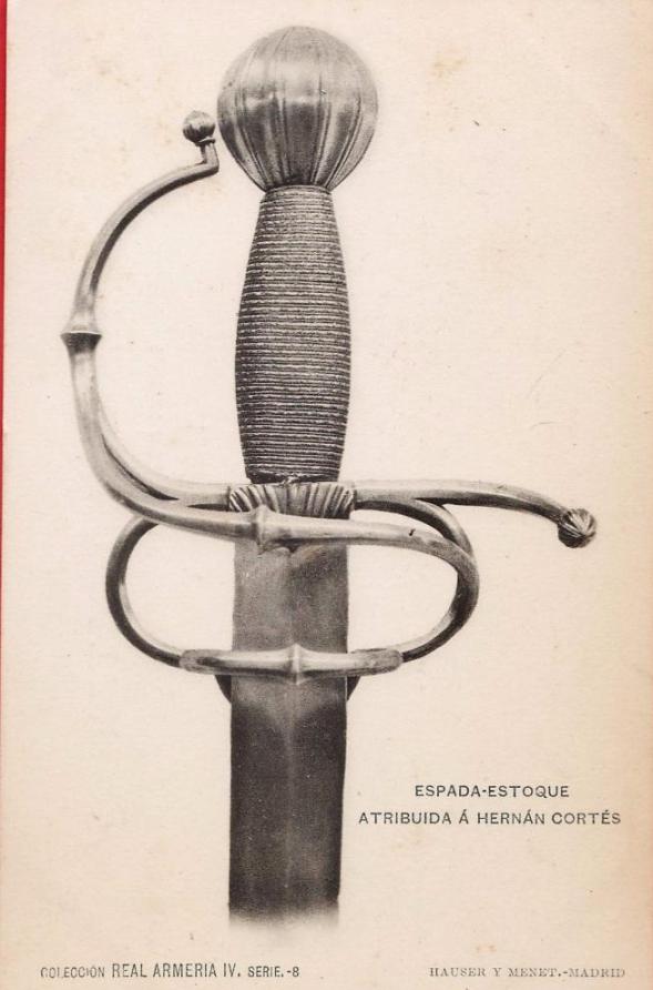 spada di hernan cortes real armeria di Madrid lunghezza 101