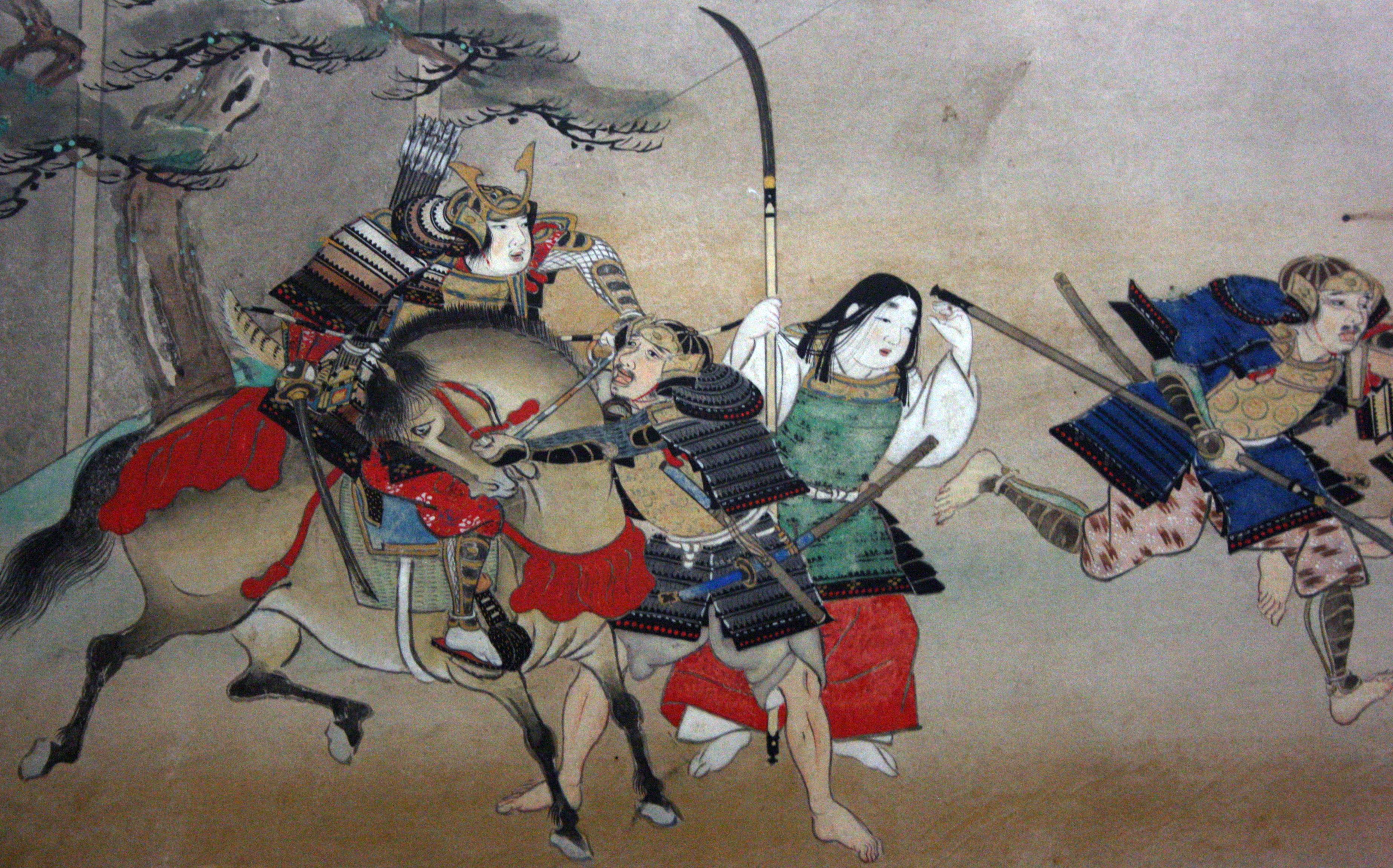 samurai a cavallo con katana